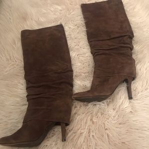 ISOLA Brown suede high heel boots size 9.5